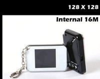 1.5 inch 16M Metal Promotion ! Digital Photo Frame 1.5 inch 128*128 digital key chain+16MB memory 100pcs lot