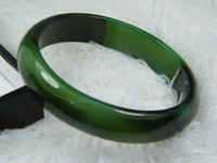 Mexican nature green jade bracelet - NATURE SUGAR GREEN DARK GREEN BLACK JADE JADEITE BRACELET BANGLE MM