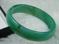 China-Tibet nature green jade bracelet - NATURE SKY BLUE GREEN BLACK JADE JADEITE BRACELET BANGLE X16X6MM
