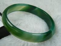 Wholesale NATURE SEA BLUE BLUE GREEN BLACK JADE JADEITE BRACELET BANGLE X14X7MM