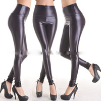 Wholesale Classic new Bright face Imitation leather pants High waist trousers Render pants