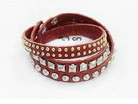 Wholesale Personality bracelet irregular rivets bracelet Fashion Bracelet Wristband PU Leather SL21