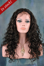 Wholesale 2013 Nice quot quot Indian Remy Human Hair Lace Front wigs Deep wave Darkest Brown cheap lace wigs