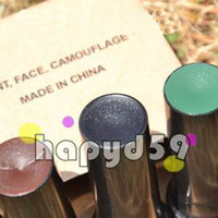 Wholesale free ship set war game camo military face paint makeup power military camouflage woodland face paint set