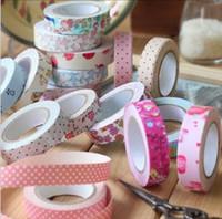 Wholesale fashion colorful Cotton printing tape DIY design printing masking tape violet_rose