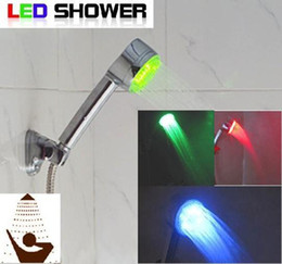 Wholesale water glow sensor spray head temperature control Shower Bathroom Sprinkler LED faucet Color light