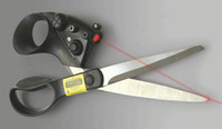 Wholesale New Laser scissors Stainless steel blades and easy grip handles