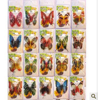 Wholesale creative Three dimensional simulation of butterfly stickers fridge magnet refrigerator magnets
