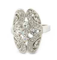 African Women's Gift high quality shiny crystal ring costume jewelry lovers rings Free Shipping LM-R012