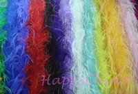 Halloween ostrich feather boas - 16Colors One Ply Carnival Decoration Ostrich Feathers Boas Feathers Scarf Feathers Accessories