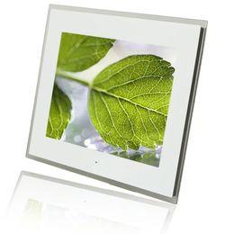 Wholesale 15 quot LCD Wide Screen Digital Photo Frame Multi media PDF Digital Clock Calendar White Brand New E00120