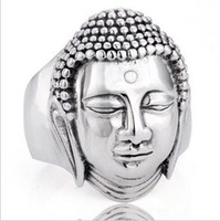 Wholesale 925 silver ring such as to Buddha s figure of Buddha of pure silver ring ring ring to ward off evil