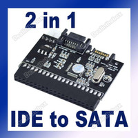 Wholesale 2 in IDE to SATA SATA to IDE Adapter Converter pin Power Connector ATA