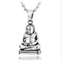 Wholesale 925 sterling silver Thai silver pendants restore ancient ways pendant silver figure of Buddha pendan