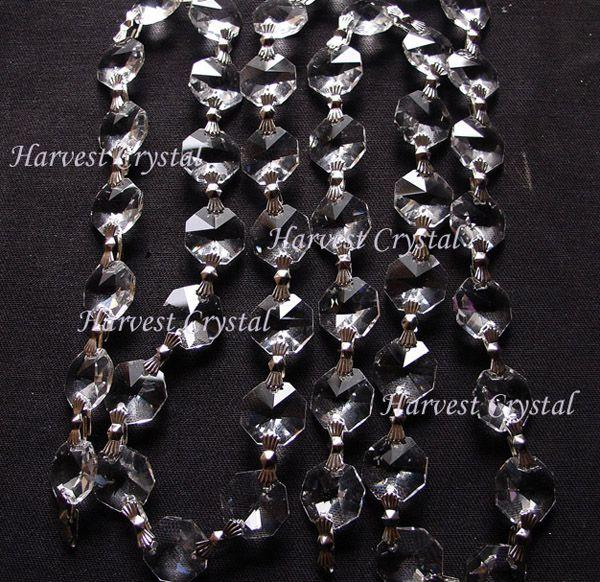 aaa quality crystal wedding decorative chaincrystal bead chainscrystal curtains40 meters - Decorative Chain