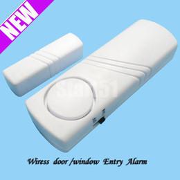 Promotion entrée de la porte de sécurité Vente en gros Livraison gratuite 5pcs / lot porte sans fil / fenêtre d'entrée de sécurité aimant alarme Bell