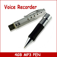 Wholesale 4GB Spy Pen FM Radio Digital Voice Recorder Mp3 Player