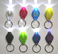 Wholesale Manufacturer Thumb LED Light Keychain Hand Pressing Flashlight colours Free EMS egomall