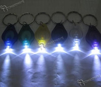 Wholesale 500 Multi colored LED Keychain Flashlights led light key ring mini led keychain light