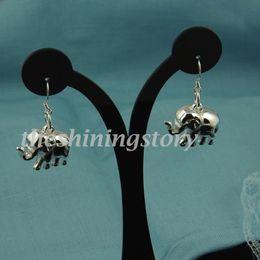 2013 new animal cute Elephant 925 sterling silver filled dangle earrings jewelry jewellery