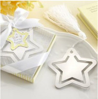 Wholesale 100pcs wedding baby gifts Bookmark cute star Design Favorites feast favors good quality party decoration