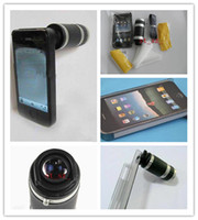 Wholesale Mobile Phone X X Zoom Telescope Camera Lens Hard Back Case for mobile phone Retail Pack black