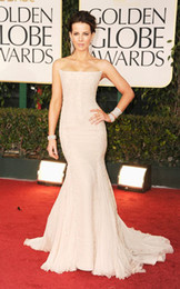Wholesale 2012 Kate Beckinsale New Golden Globe Awards Sexy Strapless Sleeveless Mermaid Celebrity Dresses