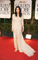 Wholesale 2012 Jessica Biel New Golden Globe Awards Sexy Lace Long Sleeve Evening Dresses Celebrity Dresses