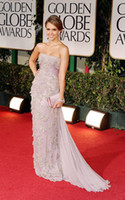 Wholesale 2012 Jessica Alba New Golden Globe Awards Sexy Beaded Lace Chiffon Evening Dresses Celebrity Dresses