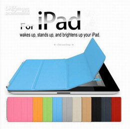 Wholesale mix color Smart cover case for smart cover genuine cow leather case for ipad2