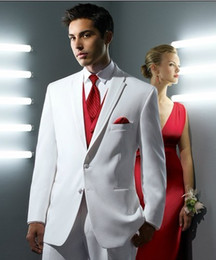 Wholesale White Men s Formal Prom Party Clothing Wedding Suits Groom Tuxedos A