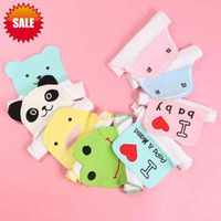 Wholesale 4 Layer Cotton Washcloth Baby Wipe cm Cartoon Baby Sweat Towel Absorb Cloth Back Towel Pad Bibs