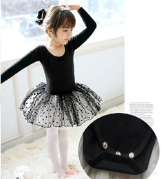 Wholesale Children ballet skirt tutu dance dress dancing dress Long sleeve baby skirt R651