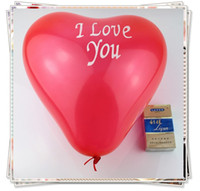 Wholesale Hot heart shaped Rubber decorate balloon balloon wedding Advertisement Valentine s day
