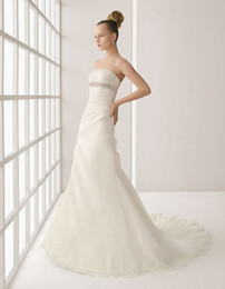 Wholesale 2012 Wedding Dresses Ivory lace strapless Sleeveless Floor length Hemline A Line princess