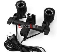Wholesale Twin Lamp Bulb Holder E27 Socket Flash Umbrella Bracket