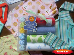 Wholesale Christmas Gift New Piece Gift Sets Long Sleeve Bodysuit amp Towels Baby Rompers M M Overalls