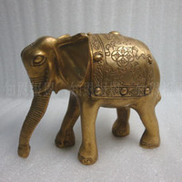 Wholesale M Metal Crafts Tibetan Buddhist bronze carving elephant statue cm Pure Handmade Sculpture