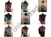 Wholesale 2 Tone Scarf Shawl Poncho scarves