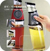 Wholesale Luoke Oil Vinegar Measured Dispenser Doseur Pour Huiler Vinaigrier Dispensador Bottle With Scale