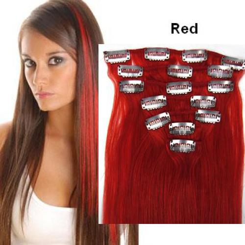 Clip In Colored Human Hair Extensions 73