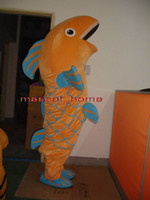 Wholesale EPE Professional Carp Fish Mascot Costumes Fancy Dress Halloween Party Adult Size Suit