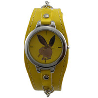 Wholesale 2012 new style PlayBoy Quartz Leather Watches mix order Watch Wristwatch