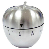 Metal apple kitchen timer - Household Stainless Kitchen Timer Reminder Apple Shape Timers