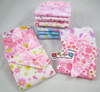 Blue Women Floral Three pieces of outfit health cotton bags bowknot bagfolding sanitary napkin bag Fashion
