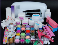 acrylic nail kit - W UV white dryer lamp color Acrylic Powder Nail Art Kit gel tools Set