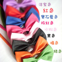 Wholesale 100pcs kinds of mix colors of dog tie dog bow tie can be used as head of flowers