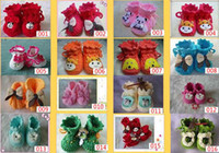 Wholesale Newborn Baby hand knitting yarn Crochet Pre Shoes boots Dog Knitted shoes Baby HANDMADE crib shoe
