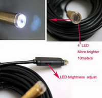 Wholesale 10m USB Cable Waterproof Drain Pipe Plumb Inspection Snake LED Colour Camera from z egomall