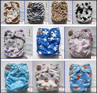bamboo fibers - Baby Bamboo Fibers Polar dots zoo Baby Cartoon DIAPER Pc Layer Inserts AIO Cloth Nappy Diapers